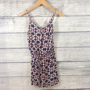 Up by Ultra Pink geometric print romper small